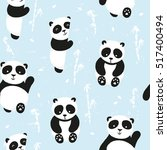 vector seamless pattern ... | Shutterstock .eps vector #517400494
