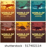 posters collection world of... | Shutterstock .eps vector #517402114