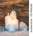 festive christmas candles... | Shutterstock . vector #517406260
