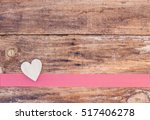 Wooden Heart With Red Checkere...