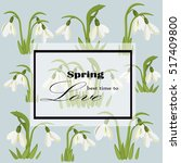 spring is the best time for... | Shutterstock .eps vector #517409800