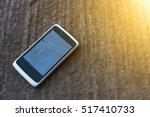 smart phones  cracked. on the...   Shutterstock . vector #517410733