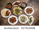 mixed portuguese traditional...   Shutterstock . vector #517413448