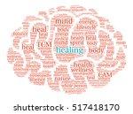 healing brain word cloud on a... | Shutterstock .eps vector #517418170