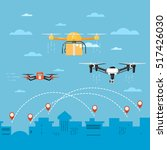 drone technology banner with... | Shutterstock .eps vector #517426030