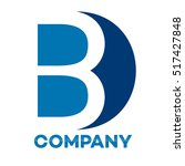 b and d company linked letter... | Shutterstock .eps vector #517427848