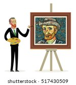 Van Gogh Cartoon Painting...
