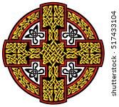 vector celtic cross.isolated... | Shutterstock .eps vector #517433104
