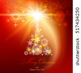 abstract christmas background.... | Shutterstock .eps vector #517434250