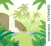 jungle flat background4 | Shutterstock .eps vector #517434820