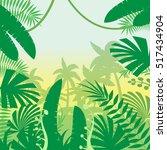 jungle flat background   Shutterstock .eps vector #517434904
