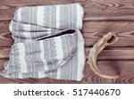 cape  cloak  shawl and horn ... | Shutterstock . vector #517440670