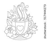 vector coffee or tea cup.... | Shutterstock .eps vector #517444273