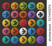 set of different color arrow... | Shutterstock .eps vector #517445074