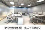 white model office working area ... | Shutterstock . vector #517448599