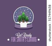 christmass snowglobe | Shutterstock .eps vector #517449658