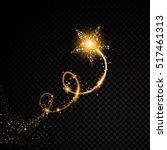 Gold Glittering Spiral Star...