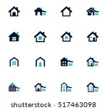 house type icon set for web... | Shutterstock .eps vector #517463098