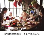 family together christmas... | Shutterstock . vector #517464673