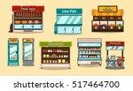 set displays  supermarket... | Shutterstock .eps vector #517464700