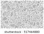 line art vector hand drawn...   Shutterstock .eps vector #517464880