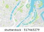 urban city map of copenhagen | Shutterstock .eps vector #517465279