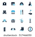 infrastucture of the city icon... | Shutterstock .eps vector #517466050
