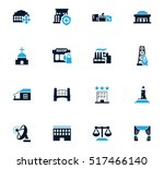 infrastucture of the city icon... | Shutterstock .eps vector #517466140