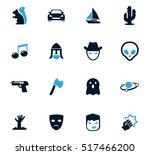 set of movie genres black icons ...
