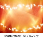 colourful glowing christmas... | Shutterstock .eps vector #517467979