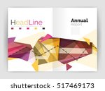 triangle abstract background.... | Shutterstock . vector #517469173