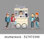 creative detailed vector street ... | Shutterstock .eps vector #517471540