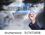 Small photo of Businessman is drawing on virtual screen. document management concept