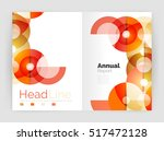 circle annual report templates  ... | Shutterstock . vector #517472128
