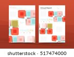 colorful square business... | Shutterstock . vector #517474000