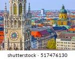 Munich, Germany, Bavaria. Marienplatz town hall architecture