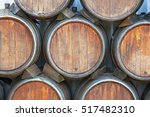 Wine Casks At The Winery