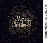 merry christmas lettering... | Shutterstock .eps vector #517482478