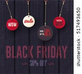 black friday sale website... | Shutterstock .eps vector #517493650