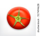 tomato. top view. vector icon.... | Shutterstock .eps vector #517494628
