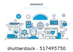 insurance realty and property ... | Shutterstock .eps vector #517495750