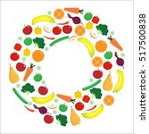 fruit and vegetable. icons set... | Shutterstock .eps vector #517500838