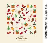 merry christmas. santa claus... | Shutterstock .eps vector #517501516