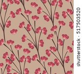 floral seamless pattern. hand... | Shutterstock .eps vector #517503520