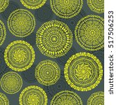 ethnic circular seamless... | Shutterstock .eps vector #517506253