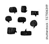 set of handdrawn vector speech...   Shutterstock .eps vector #517506349