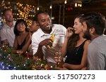 friends enjoying a christmas...   Shutterstock . vector #517507273