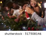 christmas party at a bar  focus ... | Shutterstock . vector #517508146