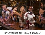 friends celebrating july 4th at ... | Shutterstock . vector #517510210