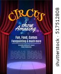 circus show poster template... | Shutterstock .eps vector #517512808